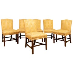 Set of Six Fine Upholstered Dining Chairs