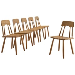 Set of Six Finnish Oak Dining Chairs