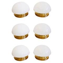 Set of Six Flush Mount Ceiling Lamps by Klaus Michalik