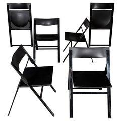 Set of Six Folding Chairs by Justus Kolberg for Tecno, Italy, circa 1990