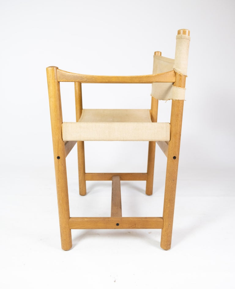 Canvas Set of Six Folding Chairs, Model J102, Designed by Ditte & Adrian Heath for FDB For Sale