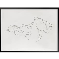 Set of 3 - Framed Female Fluid Nudes by Barry Flanagan RA OBE, signed - c1990