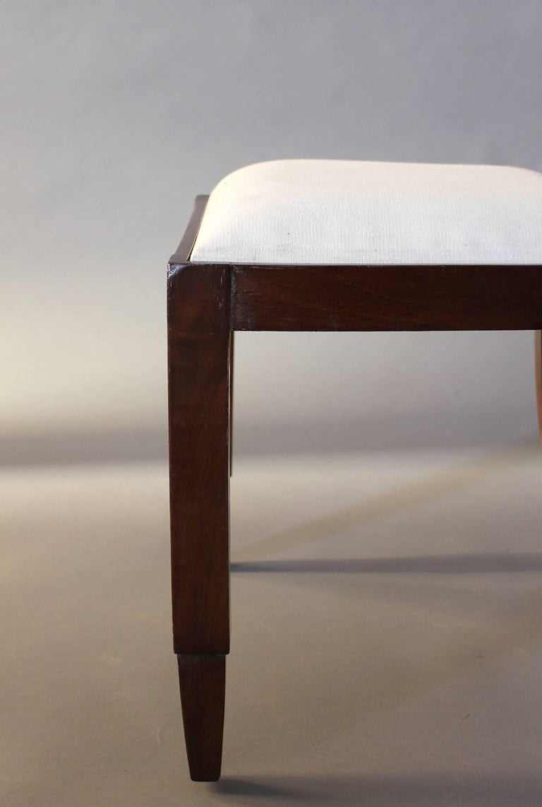 Set of Six French Art Deco Rosewood Dining Chairs For Sale 7