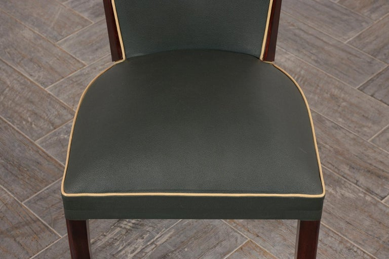 Set of Six French Art Deco Dining Chairs For Sale 1