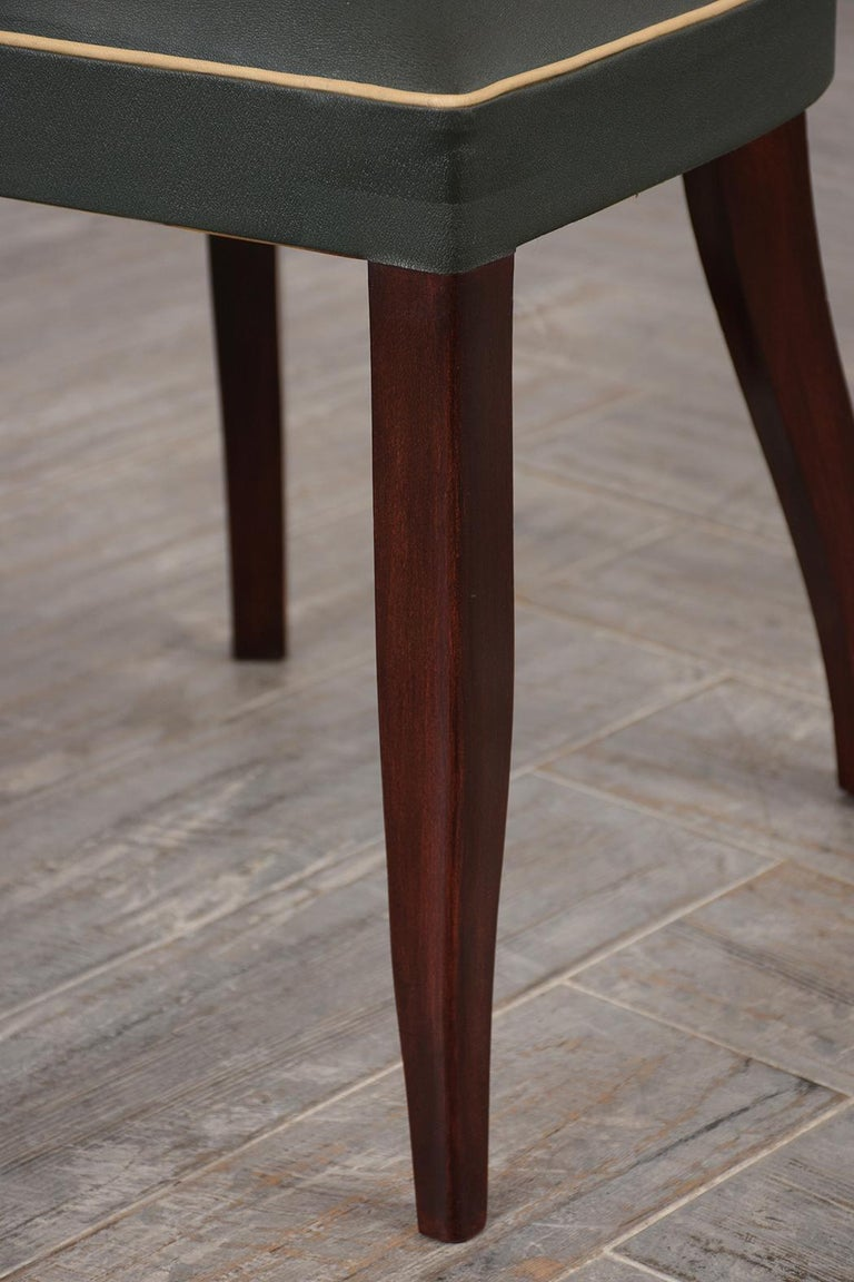 Set of Six French Art Deco Dining Chairs For Sale 2