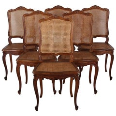 Set of Six French Caned Chairs
