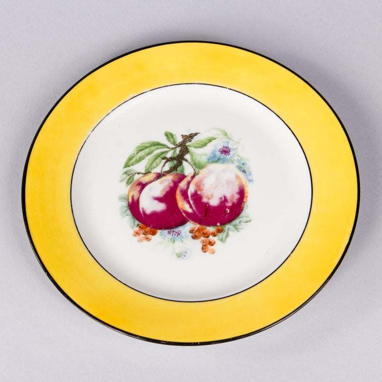 French Ceramic Plates from Mehun Factory, 20th Century For Sale 6