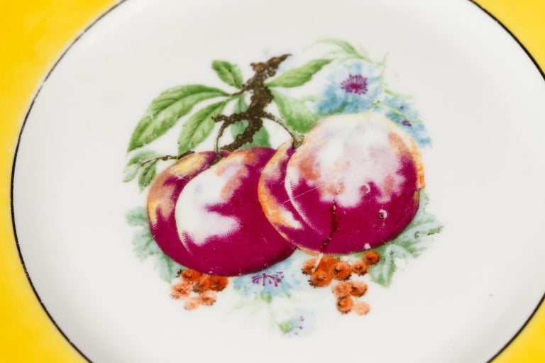 French Ceramic Plates from Mehun Factory, 20th Century For Sale 7