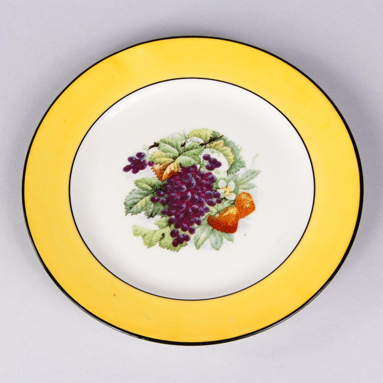 French Ceramic Plates from Mehun Factory, 20th Century For Sale 8