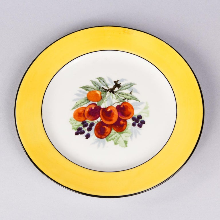 French Ceramic Plates from Mehun Factory, 20th Century For Sale 10