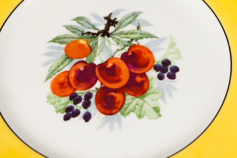 French Ceramic Plates from Mehun Factory, 20th Century For Sale 11