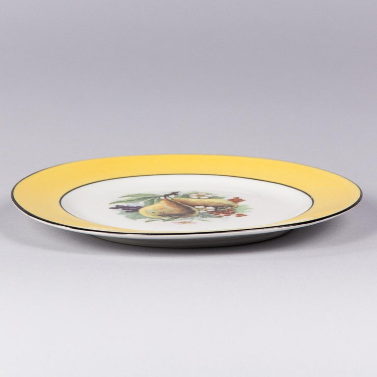 French Ceramic Plates from Mehun Factory, 20th Century For Sale 13