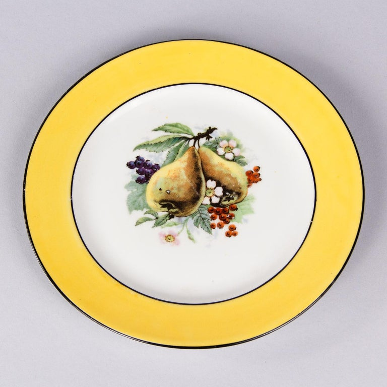 French Ceramic Plates from Mehun Factory, 20th Century In Good Condition For Sale In Austin, TX