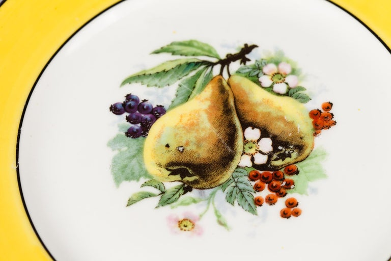 French Ceramic Plates from Mehun Factory, 20th Century For Sale 1