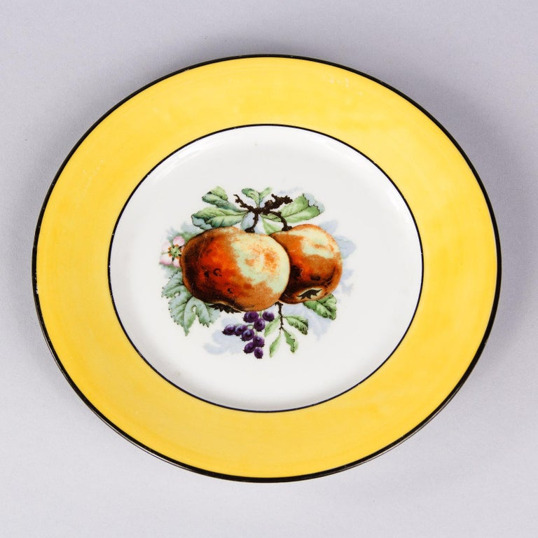 French Ceramic Plates from Mehun Factory, 20th Century For Sale 2
