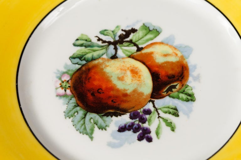 French Ceramic Plates from Mehun Factory, 20th Century For Sale 3