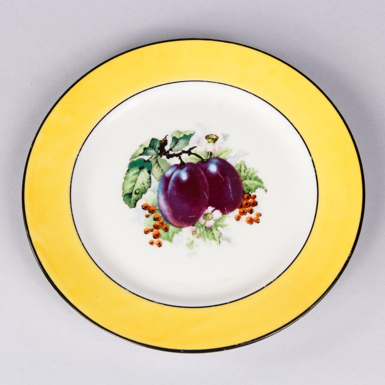 French Ceramic Plates from Mehun Factory, 20th Century For Sale 4