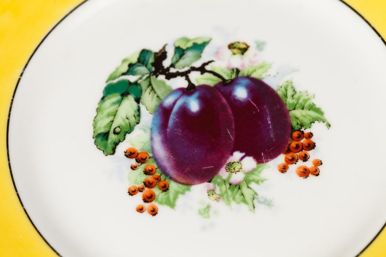 French Ceramic Plates from Mehun Factory, 20th Century For Sale 5