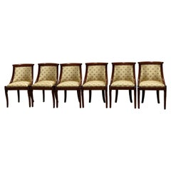 Set of Six French Charles X Revival Dining Chairs