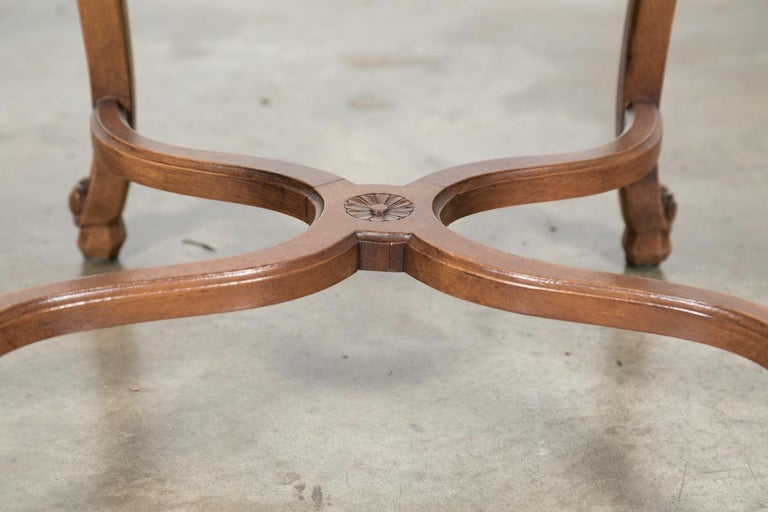 Set of Six French Louis XV Style Carved Dining Side Chairs For Sale 5