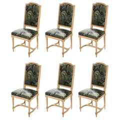 Set of Six French Louis XV Style Chairs, 1950s
