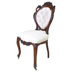Set of 6 French Napoleon III Balloon-Back Dining Chairs with Upholstery