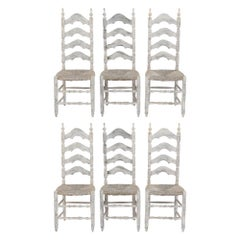 Set of Six French Provincial Dining Chairs