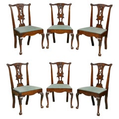 Set of Six George II Walnut Dining Chairs
