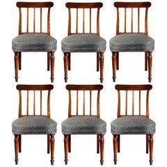Set of Six Georgian Regency Dining Chairs