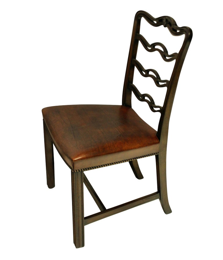 English Set of Six George III Style Dining Chairs