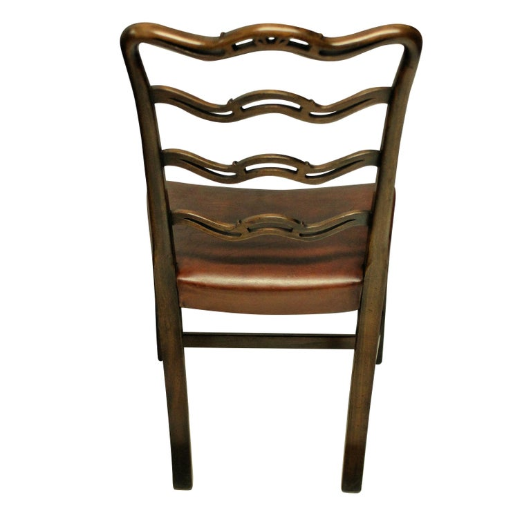Early 20th Century Set of Six George III Style Dining Chairs
