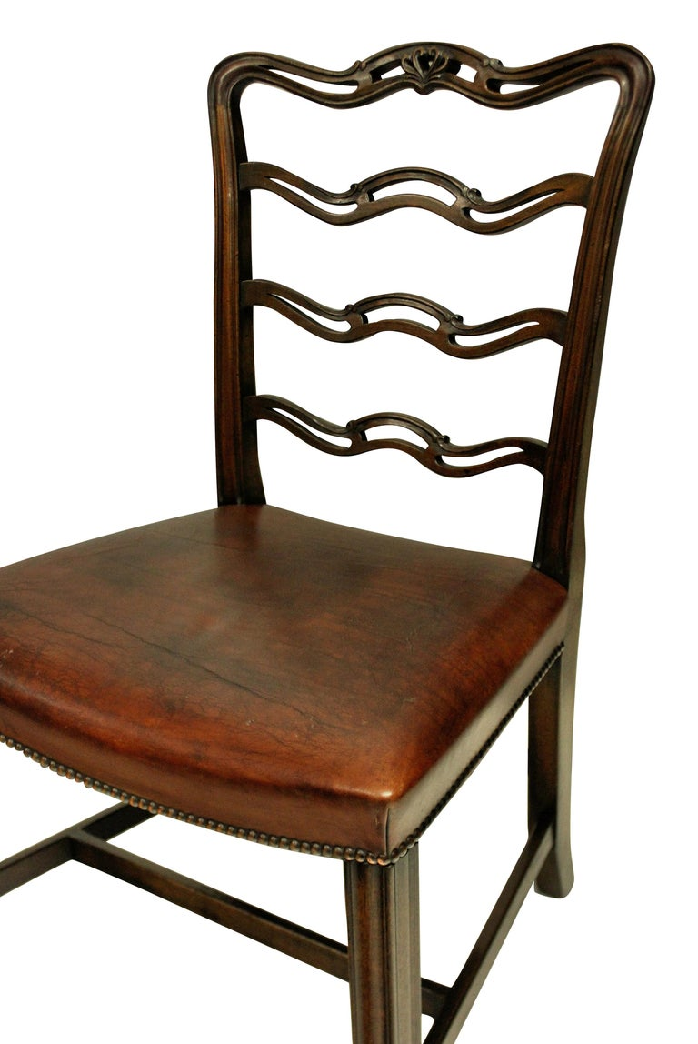 Mahogany Set of Six George III Style Dining Chairs
