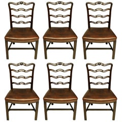 Set of Six George III Style Dining Chairs