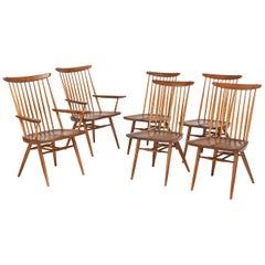 Set of Six George Nakashima Dining Chairs