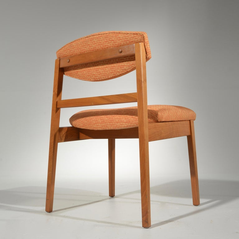 Mid-20th Century Set of Six George Nelson for Herman Miller Teak Dining Chairs For Sale