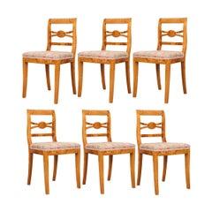 Set of Six German 19th Century Biedermeier Dining Chairs