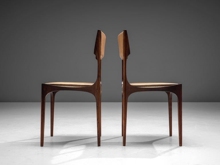 Set of Six Giuseppe Gibelli 'Beatrice' Dining Chairs In Good Condition For Sale In Waalwijk, NL