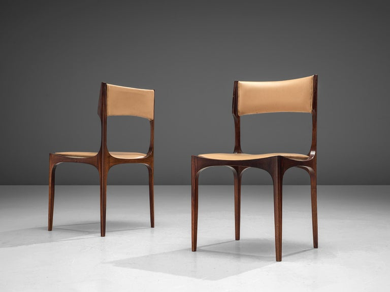 1960s Set of Six Giuseppe Gibelli 'Beatrice' Dining Chairs For Sale