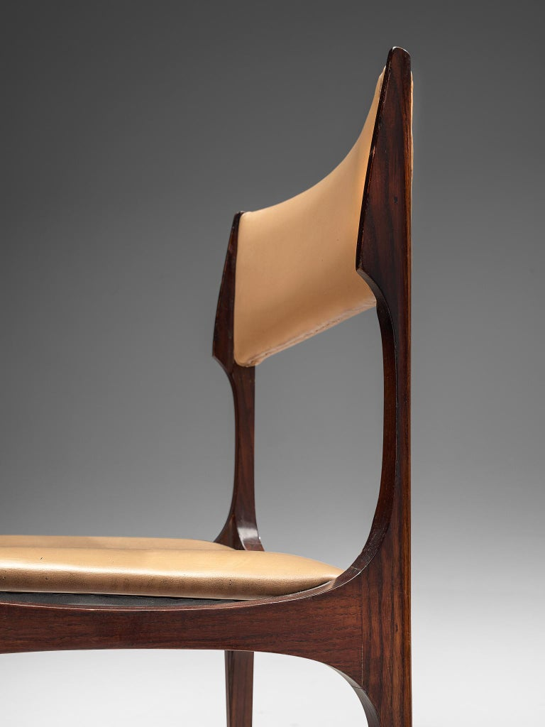 Set of Six Giuseppe Gibelli 'Beatrice' Dining Chairs For Sale 1