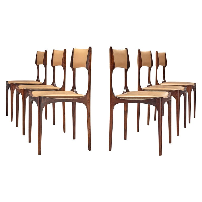 Set of Six Giuseppe Gibelli 'Beatrice' Dining Chairs For Sale