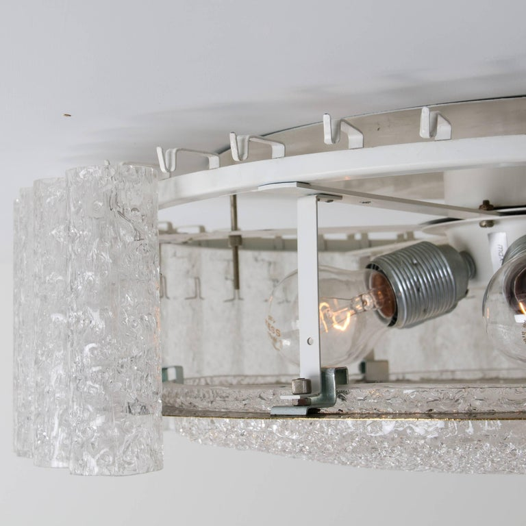 Set of Six Glass Brass Light Fixtures by Doria, Germany, 1960s For Sale 10