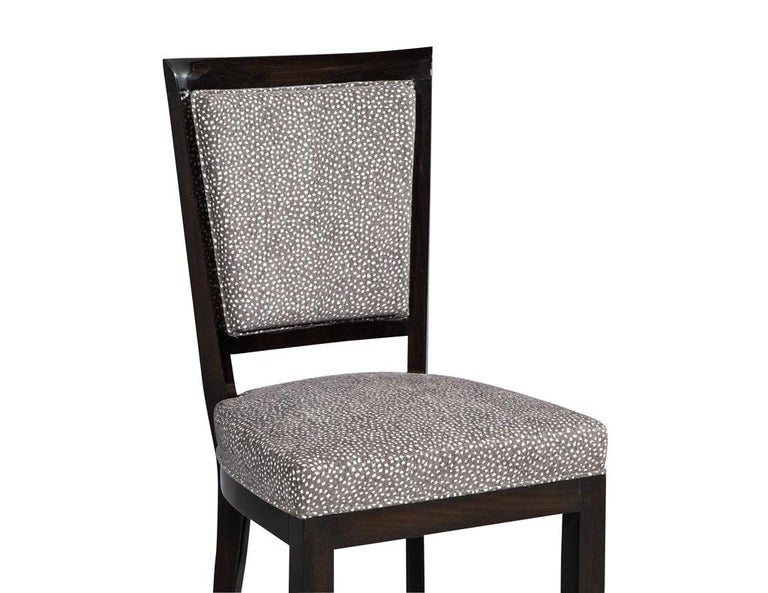 Set of Six Graphic Art Deco Dining Chairs 5