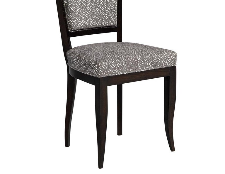Set of Six Graphic Art Deco Dining Chairs 6