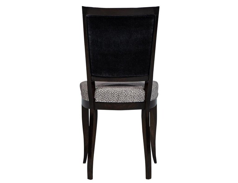 Set of Six Graphic Art Deco Dining Chairs 1