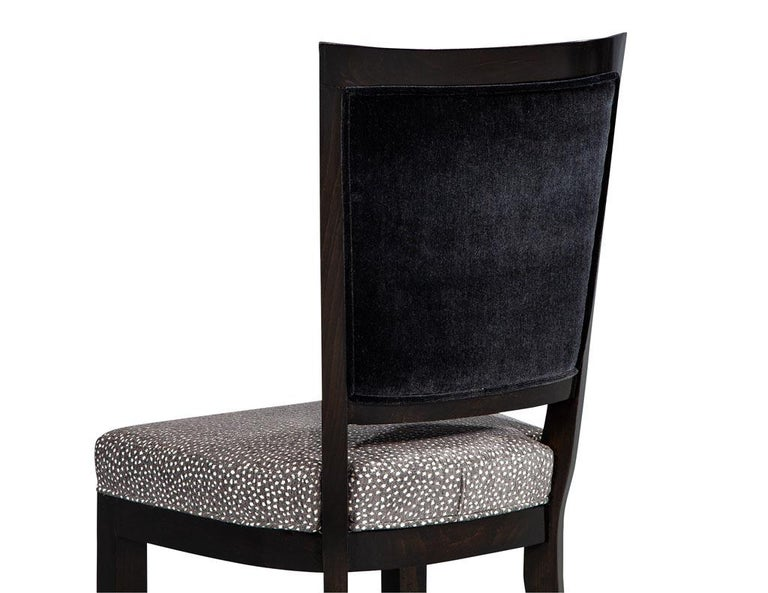Set of Six Graphic Art Deco Dining Chairs 2