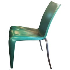 "Set of Six Green Philippe Stark ""Louis 20"" Chairs"