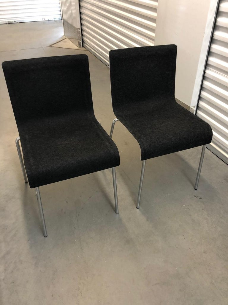 European Set of Six Gubi II Stackable Felt Chairs For Sale