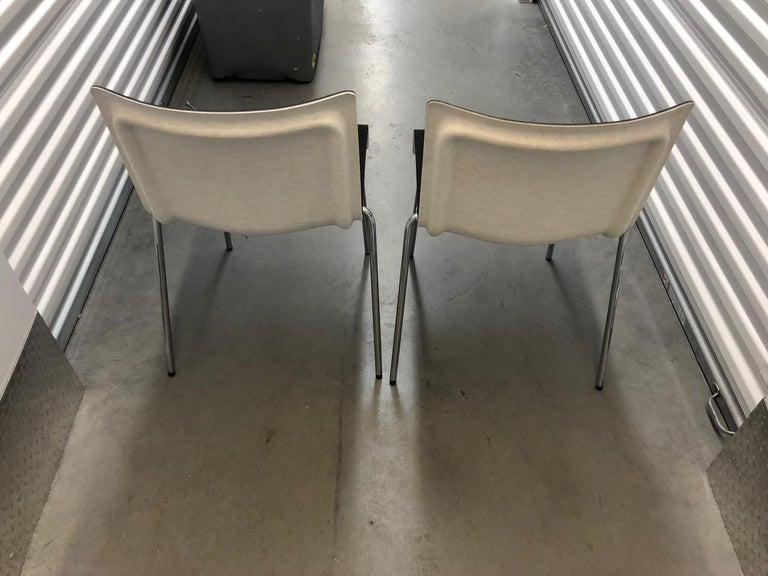 Set of Six Gubi II Stackable Felt Chairs For Sale 1