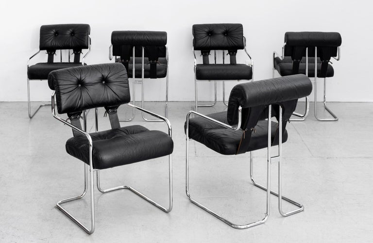 Fantastic set of six Tucroma dining chairs. 