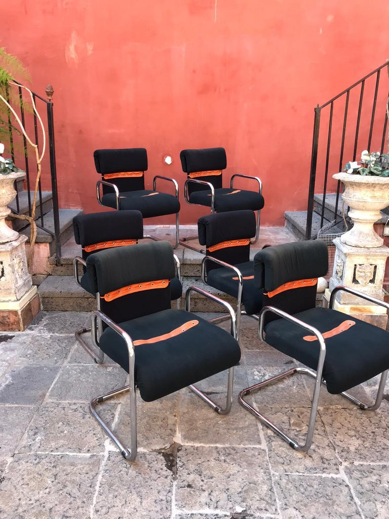 Set of Six Guido Faleschini Tucroma Italian Chairs Vintage Mid-Century In Good Condition For Sale In London, GB